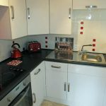 Kitchen area of the Cornish Gallery self catering