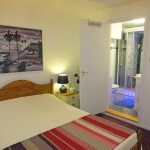 Double bedroom of the Cornish Gallery self catering