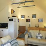 Lounge/kitchen area of the Old Boathouse self catering