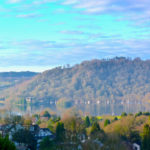 A Spring inversion over Lake Windermere seen from our rooms and front porch at Blenheim Lodge.